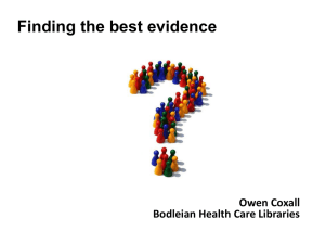 Finding-the-Best-Evidence-Owen