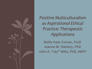 Positive Multiculturalism - Pennsylvania Psychological Association