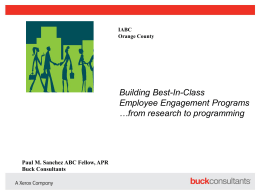 Building Best-In-Class Employee Engagement Programs *both