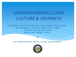 Understanding Client Culture and Journeys