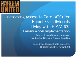 Increasing Access to Healthcare Services for Homeless Individuals