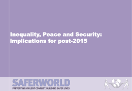 Inequality, Peace and Security: implications for post