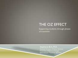 C70 The Oz Effect - Center on Education and Work