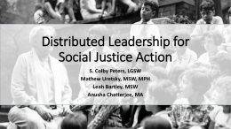 Distributed Leadership for Social Justice Action