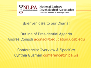 Organizational Focus - National Latina/o Psychological Association