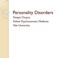 Personality Disorders - HIV Training Track