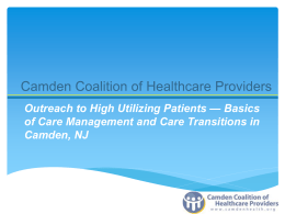Care Transitions - Camden Coalition of Healthcare Providers