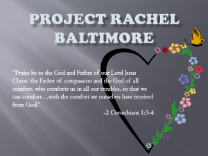 Project Rachel Informational Powerpoint