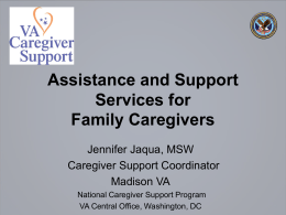 Assistance & Support Services for Family Caregivers