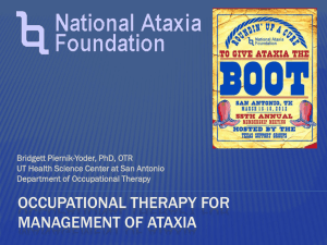 OCCUPATIONAL Therapy for Management of Ataxia