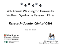 2013 Wolfram Clinic Research Update