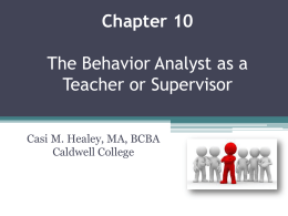 Chap 10 Teaching or supervising