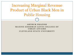Increasing Marginal Revenue Product of Urban Black Men in Public