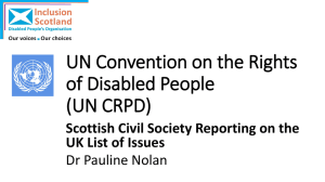 Presentation on the UN Convention on the Rights of Disabled People