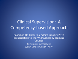Clinical Supervision_ a Competency