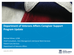Michael Kilmer, Department of Veterans Affairs