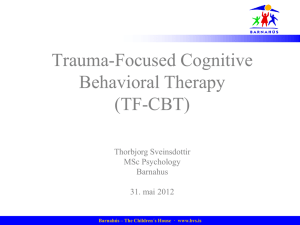 Trauma-Focused Cognitive Behavioral Therapy (TF-CBT)
