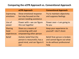 Comparing the eCPR Approach vs. Conventional