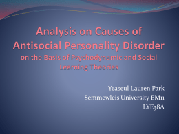 Analysis on Causes of Antisocial Personality Disorder on the Basis