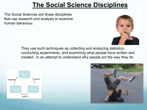 The Social Science Disciplines PPT