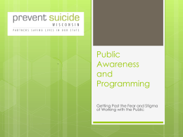 March 15, Public Awareness - Prevent Suicide Wisconsin