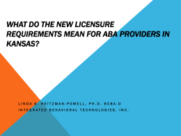 What do the new licensure requirements mean for ABA providers in