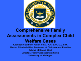 Comprehensive Family Assessments
