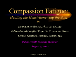 Compassion Fatigue - Student Nurse Journey