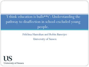 *I think education is bulls**t*: Understanding the