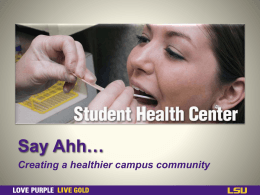 Mental Health Service - LSU Student Health Center
