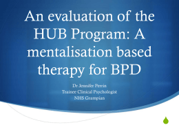 An evaluation of the HUB Program - Scottish Personality Disorder