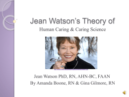 Dr. Jean Watson`s Theory - Directory of WordPress Sites