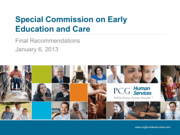 Special Commission on Early Education and Care