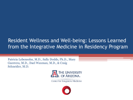 Resident Evaluation of a Web-based Integrative Medicine Curriculum
