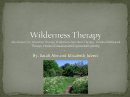 Wilderness Therapy Powerpoint Final