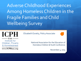 Adverse Childhood Experiences among homeless children in the