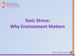 Toxic Stress - American Academy of Pediatrics