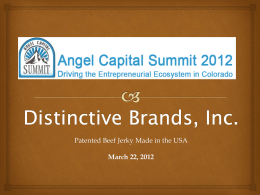 James Davis – Distinctive Brands, Inc.