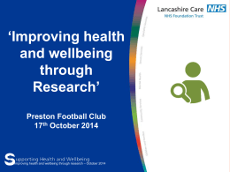 Session 2 - Lancashire Care NHS Foundation Trust