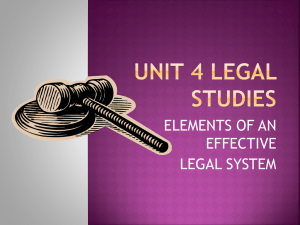 elements of an effective legal system