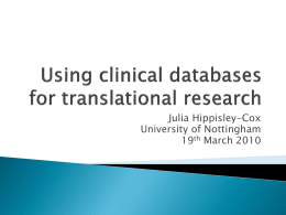 Using GP databases for translational research