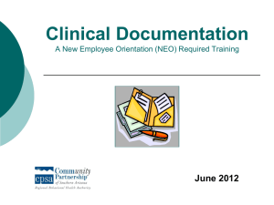 Clinical Documentation - Crisis Response Network