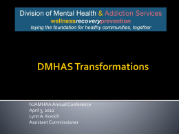 DMHAS Transformation - State of New Jersey