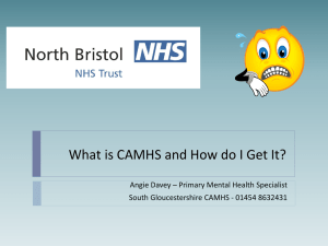 What is CAMHS and How do I Get It?