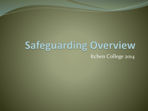 Safeguarding Update