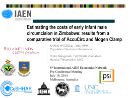 Estimating the costs of early infant male circumcision in