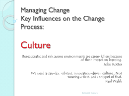 Managing Change Internal Causes of Change - econbus