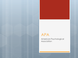 APA Style References