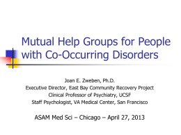 Mutual Help Groups for People with Co