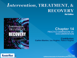 Chapter 14 pptx - California Association for Alcohol/Drug Educators